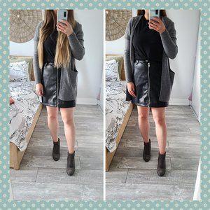 NWOT 7 For All Mankind Vegan Leather Skirt